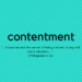 Finding Contentment, For Real
